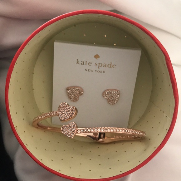 7d6c3d1b6 Yours Truly Pave Heart Studs & Open Hinge Cuff. M_5bba660d819e90a0009edbb7